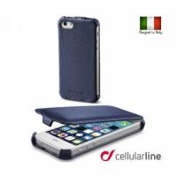 Flap за iPhone 5/5S син/черен  Cellular line
