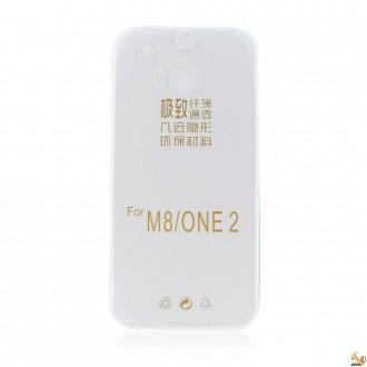 Силиконов калъф за HTC One 2 (M8) 0.3mm прозрачен
