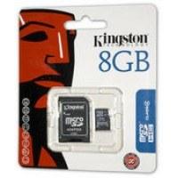 Kingston microSDHC Card 8GB + Adapter