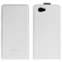 Nevox Flip Case Relino for Xperia Z1 Compact white/grey