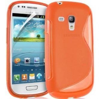 Силиконов калъф за Samsung Galaxy S3 mini оранжев