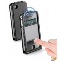 Smart Flap за iPhone 4/4S черен