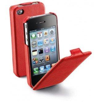 Flap за iPhone 4/4S червен Cellular line