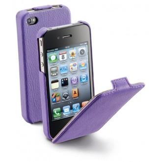 Flap за iPhone 4/4S лилав Cellular line
