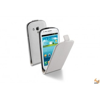 Flap Essential за Samsung galaxy I8190 S3 mini бял Cellular line