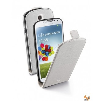 Flap Essential за Samsung Galaxy S4 бял Cellular line