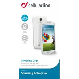 Shocking Grip за Samsung Galaxy S4 бял Cellular line