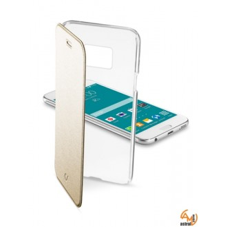 ClearBook калъф за Samsung Galaxy S6 златен Cellular line