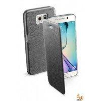 Book Essential за Samsung Galaxy S6 Edge черен Cellular line