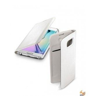 Backbook за Samsung Galaxy S6 edge бял Cellular line