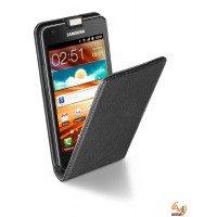 Flap Essential за Samsung Galaxy S2 I9100/S2 plus I9105 черен Cellular line