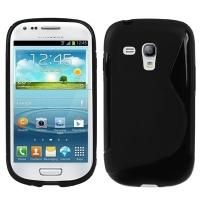 Силиконов калъф за Samsung Galaxy S3 mini черен
