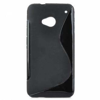 Силиконов калъф за HTC Desire 200 черен
