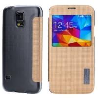 Страничен тефтер Rock за Samsung Galaxy S5 champagne gold