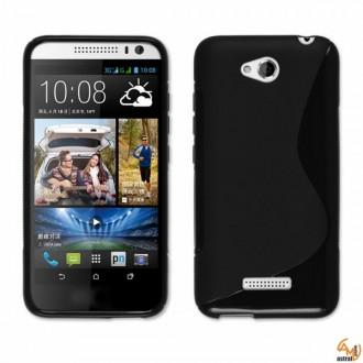 Силиконов калъф за HTC Desire 616 черен