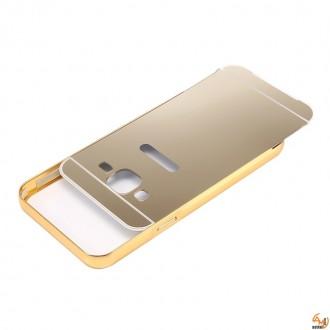 Метален бъмпер с гръб за Samsung Galaxy S6 gold