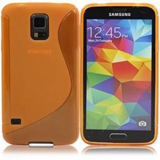 Силиконов калъф за Samsung Galaxy S5  G900 оранжев