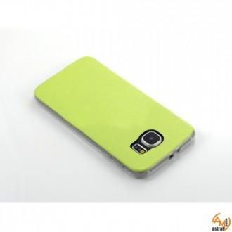 Силиконов калъф за Samsung Galaxy S6 Edge зелен