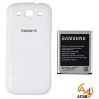 Оригинална подсилена батерия за Samsung S3  EB-K1G6UWU и бял капак
