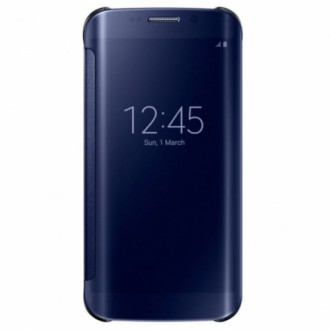 Samsung Clear View Cover  EF-ZG925BBE for Galaxy S6 Edge Черен