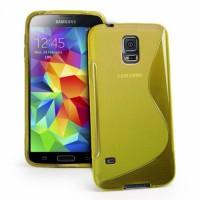 Силиконов калъф за Samsung Galaxy S5  G900 жълт