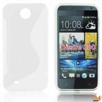 Силиконов калъф за HTC Desire 300 прозрачен