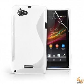 Силиконов калъф за Sony Xperia L бял