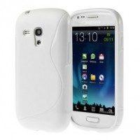 Силиконов калъф за Samsung Galaxy S3 mini бял