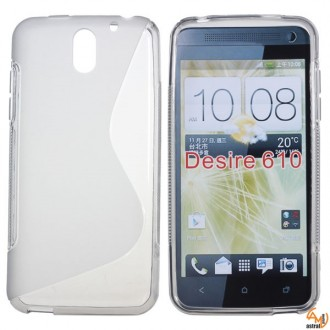 Силиконов калъф за HTC Desire 610 прозрачен