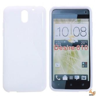 Силиконов калъф за HTC Desire 610 бял