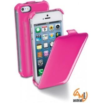 Flap Fluo за iPhone 5/5S розов Cellular line