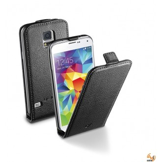 Flap Essential за Samsung Galaxy S5 бял/черен Cellular line
