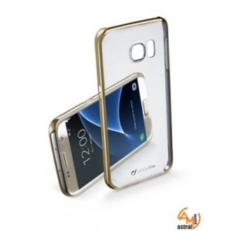 ClearCrystal калъф за Samsung Gal S7 златен Cellular Line