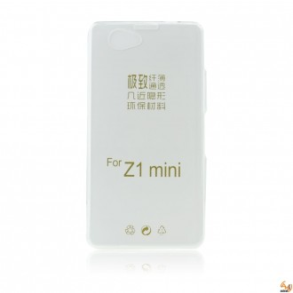 Силиконов калъф за Sony Xperia Z1 compact 0,3 мм прозрачен