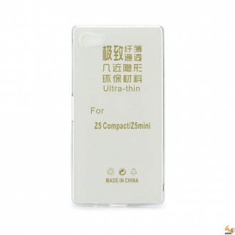 Силиконов калъф за Sony Xperia Z5 compact 0.3мм прозрачен