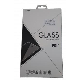 Стъклен протектор за дисплея за Samsung  J730 J7 (2017) Full, бяла рамка
