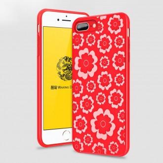 Силиконов гръб Flower Flexible Case MSVII за Iphone 7 Plus/Iphone 8 Plus , червен