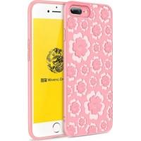 Силиконов гръб Flower Flexible Case MSVII за Iphone 7 Plus/Iphone 8 Plus , розов