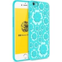 Силиконов гръб Flower Flexible Case MSVII за Iphone 7 Plus/Iphone 8 Plus ,син