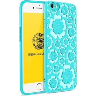 Силиконов гръб Flower Flexible Case MSVII за Iphone 7 Plus/Iphone 8 Plus ,син