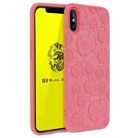 Силиконов гръб Flower Flexible Case MSVII за Iphone XS / X розов