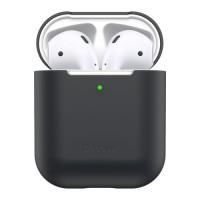 Силиконов калъф кейс Baseus за слушалки Air Pods ,черен