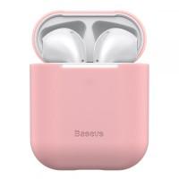Силиконов калъф кейс  Baseus  за слушалки Air Pods ,розов