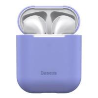 Силиконов калъф кейс  Baseus  за слушалки Air Pods ,виолетов