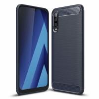 Силиконов калъф кейс Carbon Flexible за Samsung A50 / A30S ,тъмно син