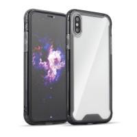 Силиконов калъф кейс Clear Armor with TPU Bumper за Huawei Y7 2019 / Y7 Prime 2019, прозрачен с черен бъмпер