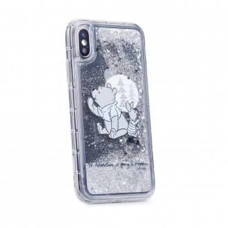 Силиконов калъф кейс Disney за iPhone 5 / 5S / SE Winnie the Pooh and Friends гел сив