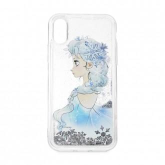 Силиконов калъф кейс Disney за iPhone 7 Plus / 8 Plus Elsa гел сив