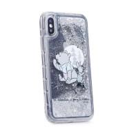 Силиконов калъф кейс Disney за iPhone XS Max Winnie the Pooh and Friends гел сив