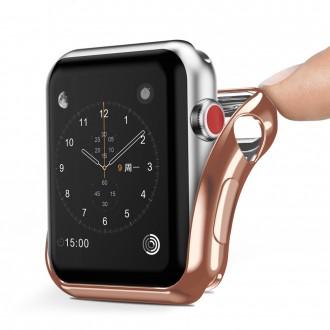 Силиконов калъф кейс DUX DUCIS за Apple Watch series 2 / 3 42 mm ,Champagne Gold
